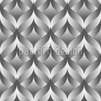 Illusional Waves Seamless Vector Pattern Design