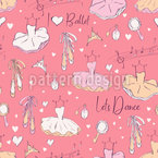 Ballet Seamless Vector Pattern Design