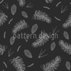 Christmas Tree Branches Seamless Vector Pattern Design