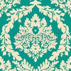 Damast Smaragd Nahtloses Vektormuster