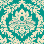 Damast Smaragd Rapportiertes Design