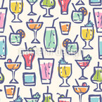Cocktail Party Seamless Vector Pattern Design
