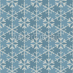 Geometric Snowflakes Vector Ornament