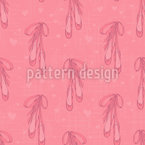 Cute Pointe Shoes Vector Pattern