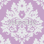Damask Violet Seamless Vector Pattern Design