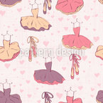 Pointe Shoes And Tutus Seamless Vector Pattern
