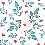 Abstract Holly Leaves Pattern Design