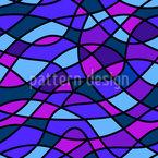 Wavy Mosaic Design Pattern