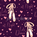 Pointe Shoes And Hearts Vector Ornament