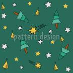 Geometrischer Weihnachtsbaum Nahtloses Vektormuster