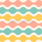 Summery Waves Seamless Vector Pattern Design