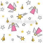 Geometric Christmas Angel Repeating Pattern