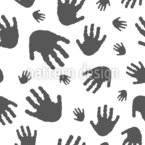 Hands Seamless Vector Pattern Design