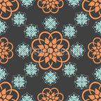 Flowery Night Seamless Vector Pattern Design