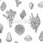 Seashell Paradise Seamless Vector Pattern Design