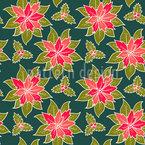 Winterliche Blumen Nahtloses Vektormuster