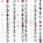 Herz Girlande Nahtloses Vektormuster