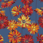 Strawflowers Seamless Vector Pattern Design