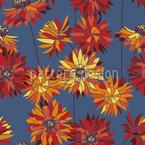 Strohblumen Nahtloses Vektor Muster