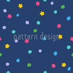 Punkte Und Sterne Nahtloses Vektormuster