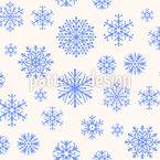 Schneeflocken im Paradies Nahtloses Muster