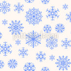 Snowflakes In Paradise Seamless Pattern