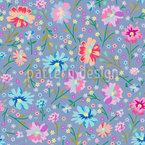 Frühlingsblüten Nahtloses Vektor Muster