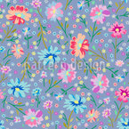 Spring Blossoms Seamless Vector Pattern Design