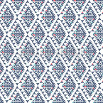 Diamond Triangles Seamless Vector Pattern Design