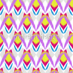 Ikat Insects Seamless Vector Pattern Design