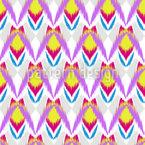Insetos Ikat Design de padrão vetorial sem costura