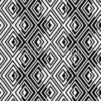 Rhombischer Zickzack Nahtloses Vektormuster