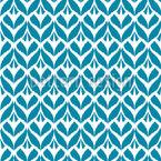 Ikat Blätter Nahtloses Vektor Muster