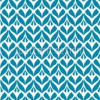 Ikat Leaves Seamless Vector Pattern