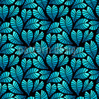 Midnight Moonlight Leaves Vector Pattern