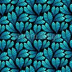 Mitternachtsmondschein-Blätter Vektor Muster