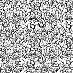 Hagebuttenblüte Nahtloses Vektormuster