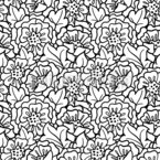 Rosehip Blossom Seamless Vector Pattern Design