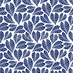 Frosty Leaves Pattern Design
