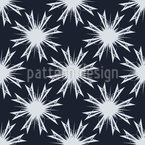 Night Snowflakes Seamless Vector Pattern Design