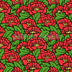 Rosehip Flowers Vector Ornament