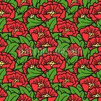 Flores de Rosa Mosqueta Estampado Vectorial Sin Costura