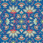 Fantasie-Blumenvolk Nahtloses Muster