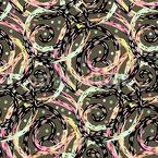 Spiralen Und Punkte Nahtloses Vektormuster
