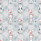 かわいい猫 シームレスなベクトルパターン設計