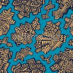 Bloques de Mosaico Estampado Vectorial Sin Costura