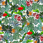 ジャングルパラダイス シームレスなベクトルパターン設計