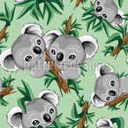 Koala Babies Seamless Vector Pattern Design