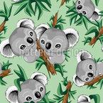 Koala-Babys Nahtloses Muster