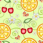 Fruchtiges Sommer Nahtloses Vektormuster